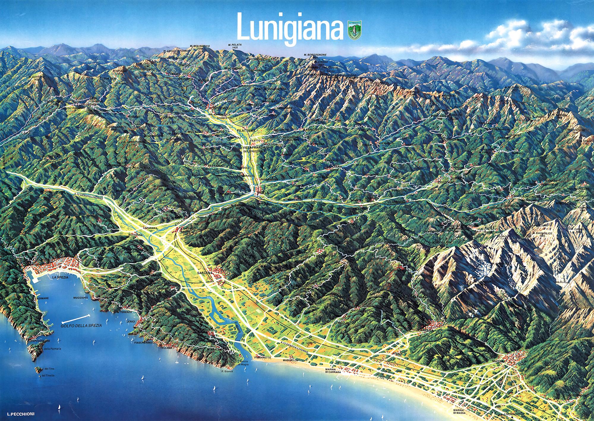 Cartina Lunigiana